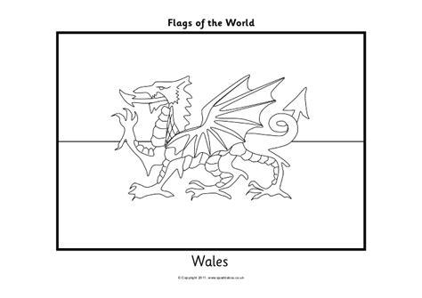 exiucu biz wales flag coloring page