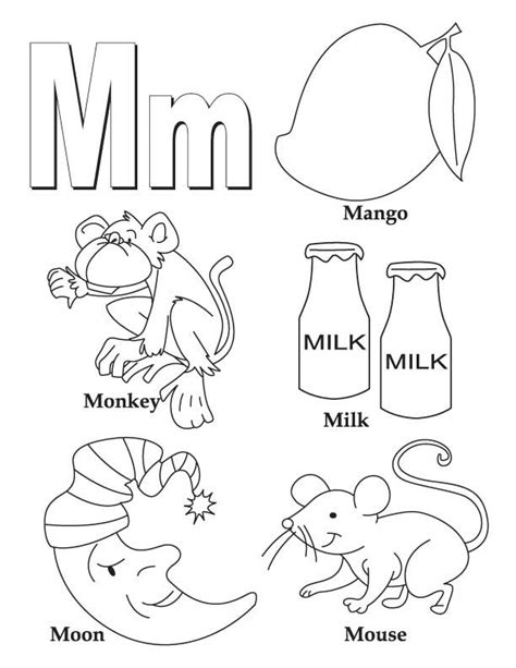 coloring page for letter m letter m coloring pages coloring home