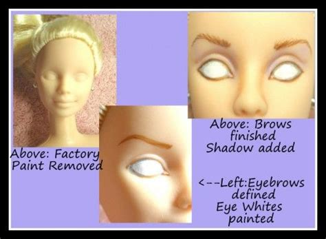 fashion doll repaint tutorial how to repaint barbies and other dolls doll repaint and