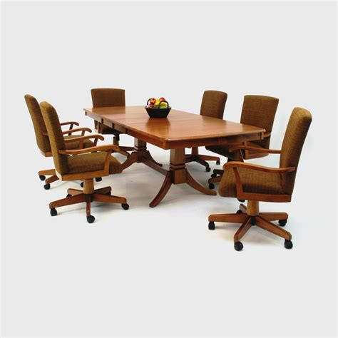 dining room chair casters oak dining room chairs on casters chairs seating