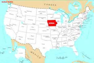 iowa usa map
