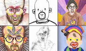What Phone Does President Trump Use artist draws dozens of bizarre self portraits while high