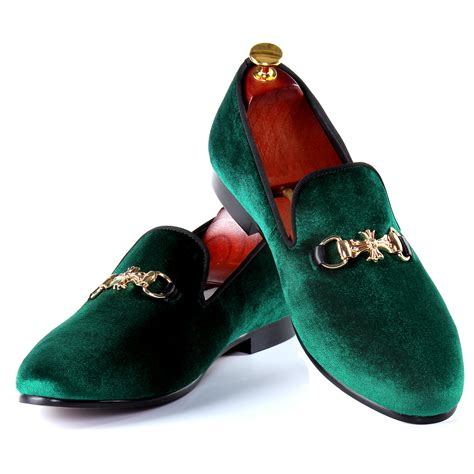 dress slippers harpelunde green velvet slippers buckle dress