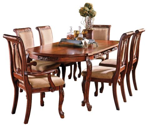 Steve Silver Dining Room Furniture Steve Silver Harmony 7 Oval Dining Room Set In Cherry Traditional Dining Sets By
