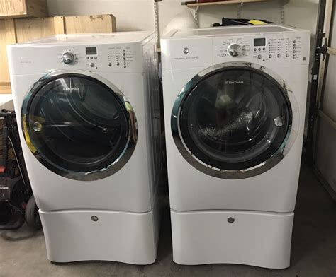 electrolux washer and dryer top of line electrolux white iq touch front load washer dryer pedestals ebay