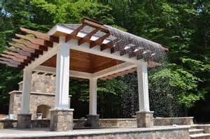 Outdoor Pergola Drapes Landscape Architectural Design Rain Curtain
