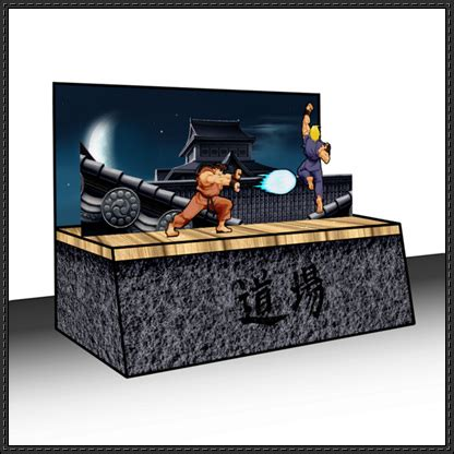 3d Papercraft Models Free - fighter ryu free papercraft