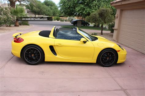porsche yellow porsche boxster 2014 yellow imgkid com the image