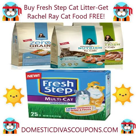 printable coupons for cat food and litter buy fresh step cat litter get rachel ray cat food free