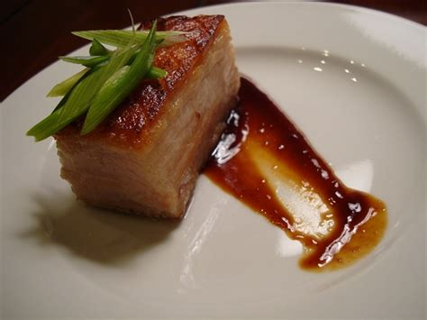 Porkbelly Black Sauce sous vide pork belly with hoisin sauce sous vide eats pork pork belly and sauces