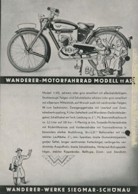 Wanderer Motorrad Modelle by Wanderer Modell 11 As 1sp Prospekt 2 1936 Nr Wand5208