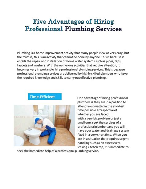 Professional Plumbing Services The Benefits Of Employing Plumbing Services