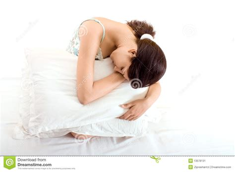 Sleeping On Pillow by A Beautiful Indian Sleeping On Pillow Stock Image