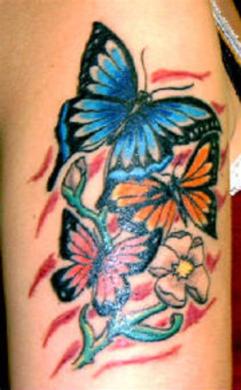 butterfly sleeve tattoo awesome colored butterflies tattoos on half sleeve