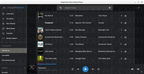 theme google play music google play music desktop player for linux nuxref