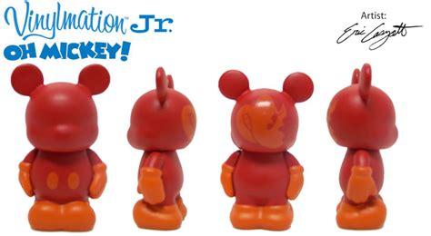 Disney Jr Mickey Mat - orange chasing vinylmation