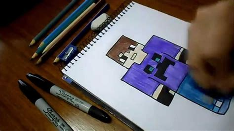 imagenes para dibujar a lapiz de minecraft dibujando skin jose craft gameplay minecraft youtube
