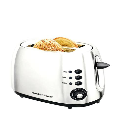 Hamilton 2 Slice Toaster Brushed Metal hamilton 22504 in 2 slice modern toaster brushed metal price in india buy hamilton