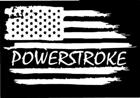 Powerstroke Diesel Stickers american flag ford f 250 f 350 powerstroke diesel vinyl