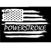 American Flag Ford F 250 350 Powerstroke Diesel Vinyl