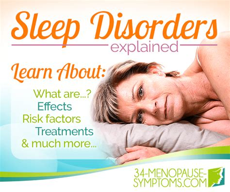 7 Signs You Sleeping Problems by About Sleep Disorders 34 Menopause Symptoms