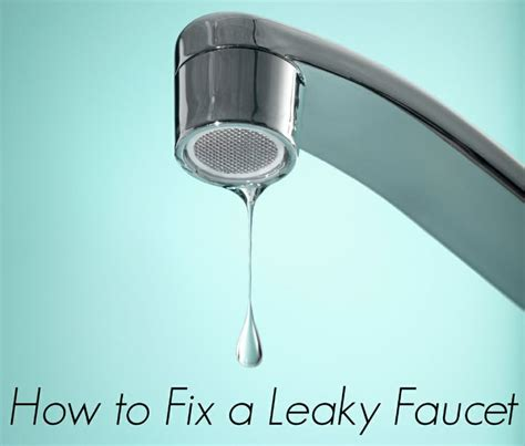 5 steps to fix a leaky faucet