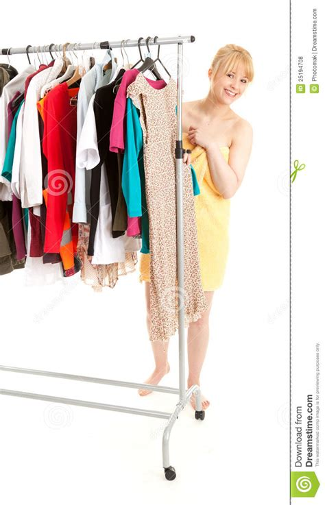 Shower Clothes by After Shower Choosing Clothes Royalty Free Stock Photos Image 25194708