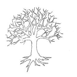 bare tree template free coloring pages of bare tree outline