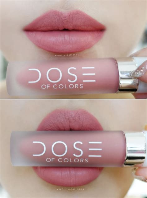 Lipstik Dose Of Color by Dose Of Colors Liquid Matte Lipstick In Bare With Me