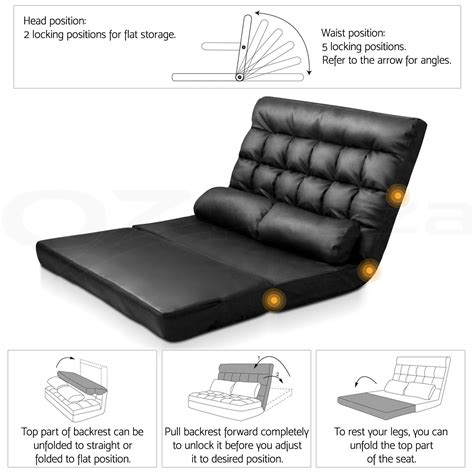 recliner bed chair lounge sofa bed double floor recliner chair folding
