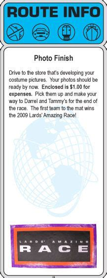 the amazing race clue template 2009 amazing race clues 13 15