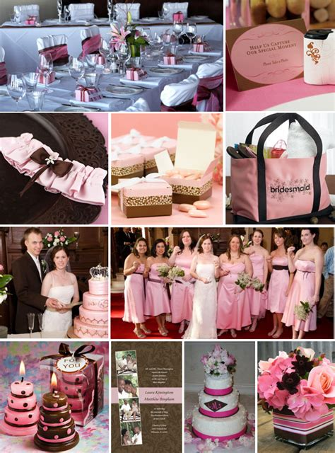 Pink And Brown Decorations by Bintou S This Wedding Bell Place Card Holders Feature Silver Metal Bells With A