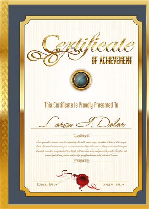 free certificate templates for adobe illustrator certificate template adobe illustrator free vector