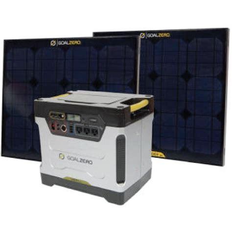 solar powered kits goal zero yeti 1250 solar powered generator kit