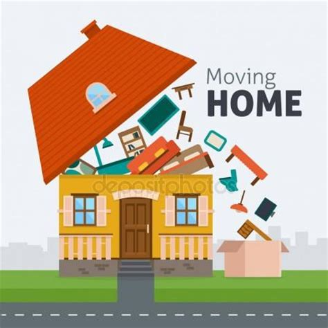 moving house stock vectors royalty free moving house