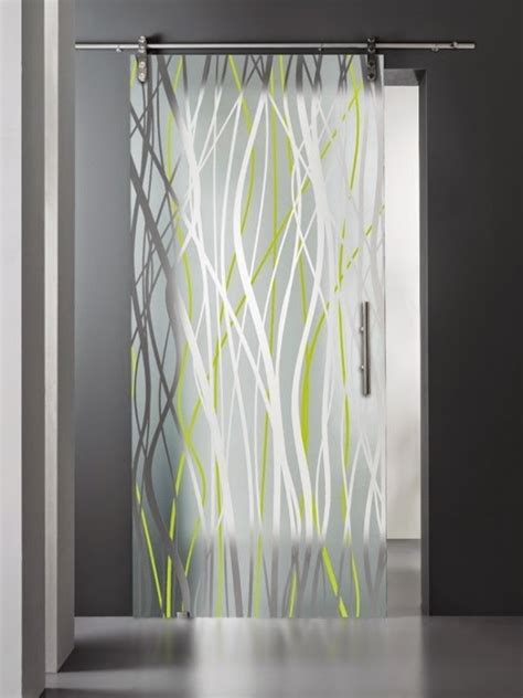 Etched Glass Interior Doors Cool Stained Glass Interior Doors For Modern Interior