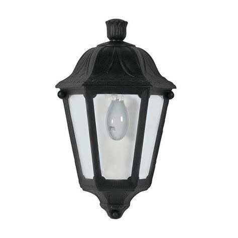 Fumagalli Outdoor Lighting Fumagalli M22 000 000 Ax Lesse Black Half Lantern At Uk Electrical Supplies