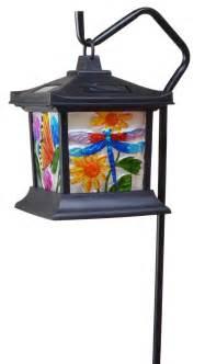 solar powered hanging lights hanging stained glass l led light solar powered outdoor