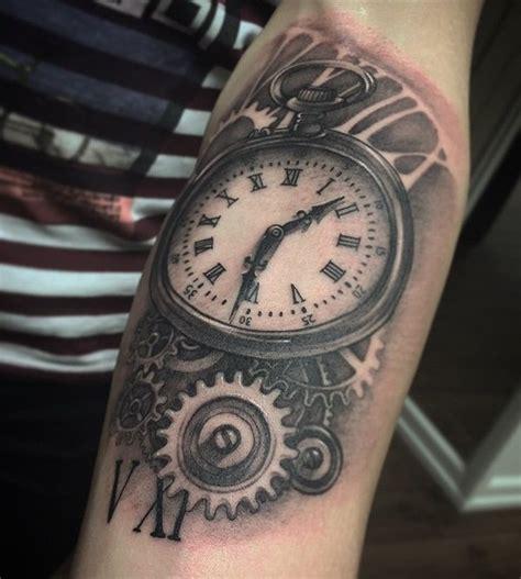 mechanical watch tattoo mechanical clock tattoo