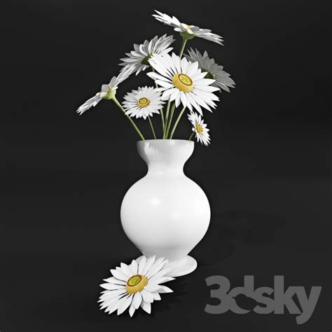 Daisies In A Vase by 3d Models Plant Daisies In A Vase