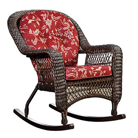 Big Lots Rocking Chair by View Wilson Fisher 174 Resin Wicker Cushioned