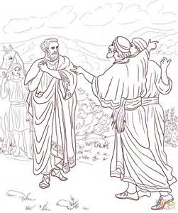 Jesus Heals The Blind Man Craft Jesus Healed The Son Of The Nobleman Coloring Page Free