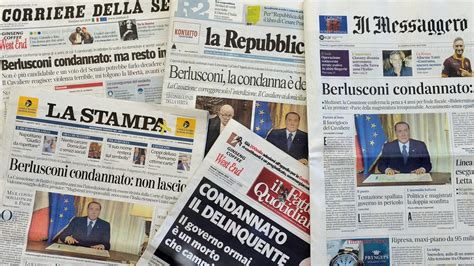 best italian newspaper berlusconi vows to fight back after tax conviction