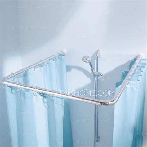 flexible shower curtain rod best flexible abs corner alloy shower curtain rod