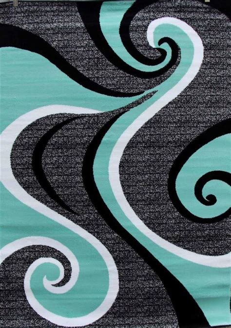 swirl area rug turquoise swirls 5x7 area rug modern contemporary abstract
