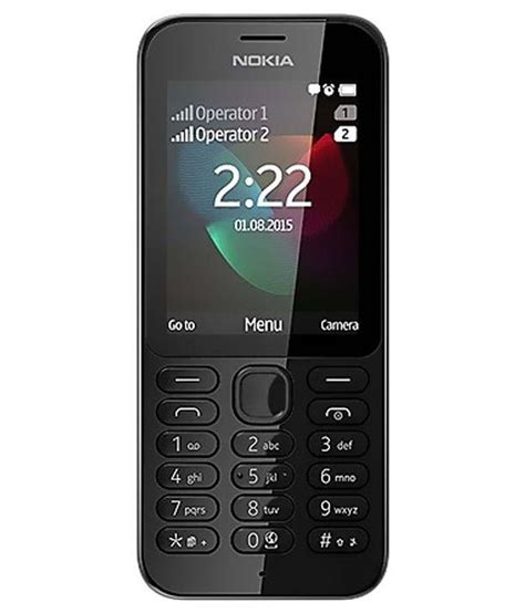nokia low cost mobile nokia nokia 222 below 256 mb black feature phone