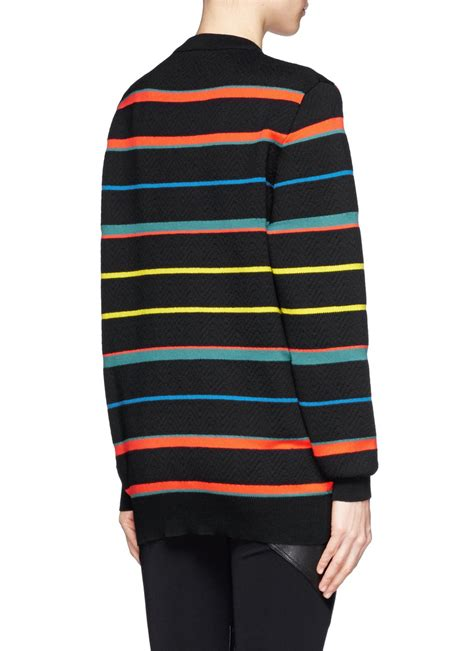 Sweater Black Flag K21 lyst givenchy american flag badge sweater in black