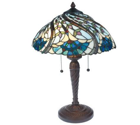 tiffany inspired ls qvc tiffany style handcrafted peacock swirl decorative base