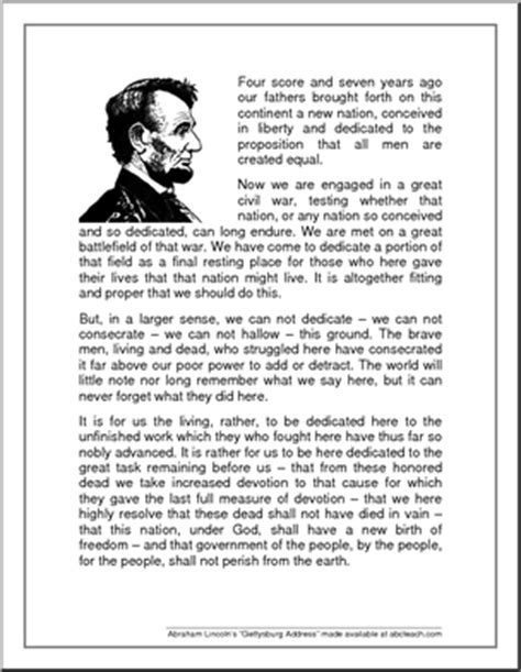speech from abraham lincoln speech gettysburg address abraham lincoln s