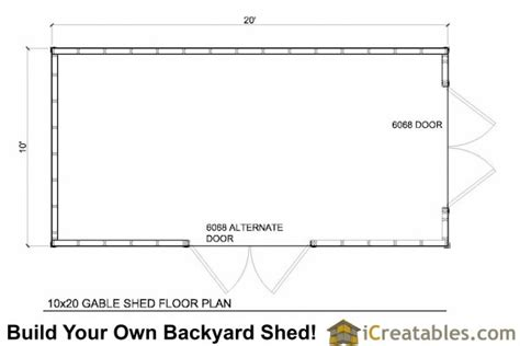 storage building floor plans 10x20 gable shed plans icreatables sheds